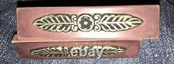 10 Art Deco Amber Bakelite Brass Drawer Pulls Knobs Handles 2 styles-@4 @6