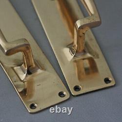 1930s Brass Door Pull Handles