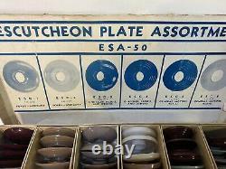 1940s 1950s DOOR HANDLE ESCUTCHEONS PLATE interior trim FORD, MERC, GM, Chrysler