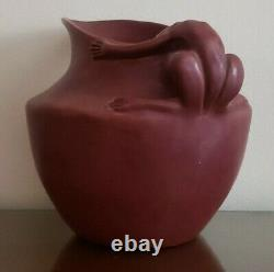 1941 Sequoyah Pottery Figural Frog Handle Pitcher Cherokee Orphan Indian School