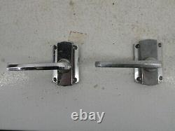 5 Pairs Of Vintage Chromed Art Deco Yale Lever Door Handles No Spindles G8