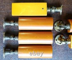 8 Art Deco Phenolic Amber Butterscotch Bakelite Drawer Dresser Pull Handle Knob