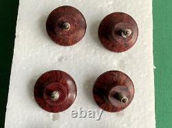 8 Small X Vintage Bakelite Drawer Handles, Pull Knobs, 25mm Diameter, 13mm Screw