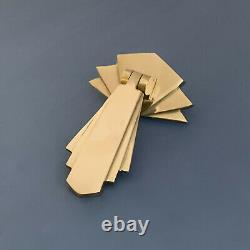 8 X Brass Art Deco Door Or Drawer Pull Drop Handles Cupboard Furniture Knobs
