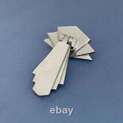 8 X Chrome Art Deco Door Or Drawer Pull Drop Handles Cupboard Furniture Knobs