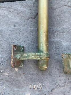 ANTIQUE BRASS ART DECO DOOR HANDLES EXTRA LARGE 18 VINTAGE DOOR PULLS, pub, bank