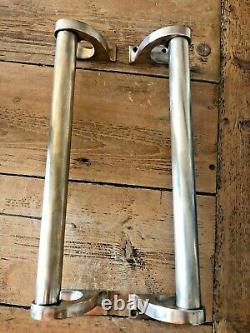 ANTIQUE BRASS DOOR HANDLES LARGE 33cm VINTAGE DOOR PULLS
