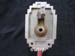 Antique Art Deco Corbin S8385 Chromed Brass Door Pull Handle Thumb Latch Type