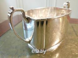 Antique George VI Sterling Silver Art Deco Two Handled Sugar Bowl 1937