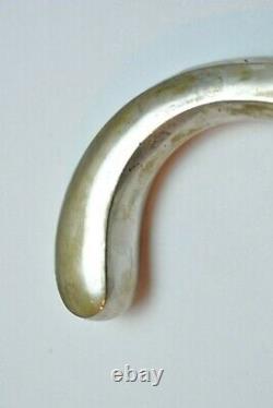 Antique German Cane Walking Stick 800 Silver Art Deco Only Handle