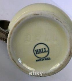 Antique HALL China Railroad Hotel Indiv. Teapot International Silver Lid Handle
