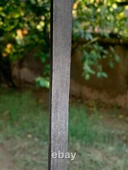 Antique Rare Iron Hand Forged Tiger Handle Top Shepherd's Sword Walking Stick