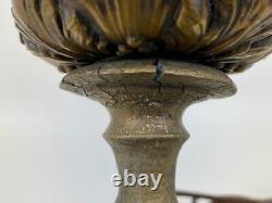 Antique Roseville Pottery Sunflower 1930's Art Deco Table Lamp Handled Vase Pot