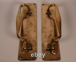 Art Deco Brass Door Handles Antique Salvaged Antique