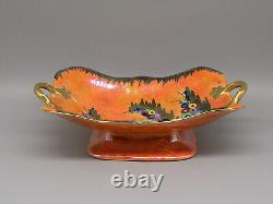 Art Deco Carlton Ware Floral & Lustre Decorated Twin Handled Dish