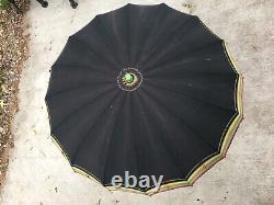 Bakelite Vintage Umbrella Green Apple Handle Parasol Made In USA TESTED