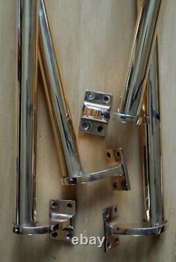 Brass Door Handles Art Deco Antique Pair Vintage Door Pulls 18 EXTRA LARGE