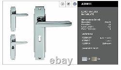 Carlisle Brass ADR01/CP/SN Art Deco Lever on Backplate Door Handle (Pair)