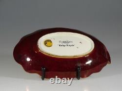 Carlton Ware Rouge Royale Spider Web Oval Handled Bowl, England c. 1930-40