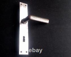 Cast Iron Door Handles by Modernist Architect Hans POELZIG Bauhaus 1930s Salvage