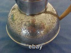 English Barker Brothers Birmingham 1.5 Pint Epns Teapot With Wrapped Handle