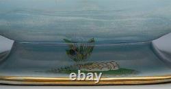 FINE ART DECO CARLTONWARE LUSTRE KING FISHER TWIN HANDLED DISH c. 1920-1926