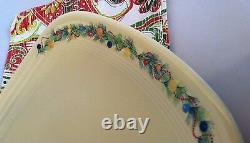 Fiestaware Ivory Christmas Tree Handled Serving Tray Fiesta Holiday Single Tier
