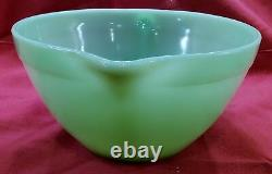 Fire King Jadeite Green Batter Bowl Banded Mixing withSpout & Handle