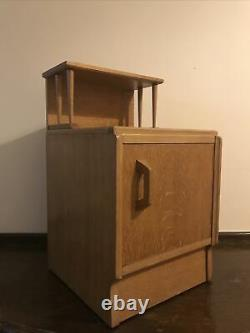 G Plan bedside cabinet E Gomme blonde oak Brandon Art Deco Mid Century
