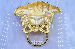 Gianni Versace door handle knocker medusa sunglasses vintage chain bag GOLD
