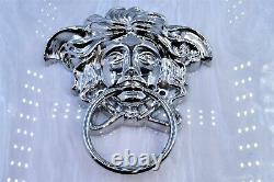 Gianni Versace door handle knocker medusa sunglasses vintage chain bag SILVER