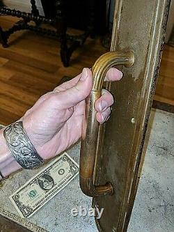 Gorgeous Antique Brass Heavy 19 Large Art Deco Nouveau Rupert Door Handle