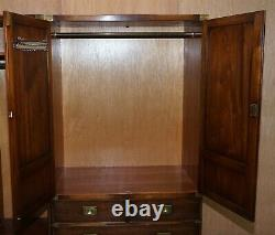 Harrods Rrp £7999 Stunning Bevan Funnell Military Campaign Wardrobe Brass Handle