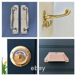 Large Brass Art Deco 12 (pairs) Door Pull Handles Knobs Plates Finger Push Grab
