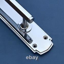 Large Chrome Art Deco (pairs) Door Pull Handles Knobs Plates Finger Grab Push