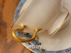 Lenox Fountain Cream, bullion double handle Cup & Saucer 6 SETS! EXCELLENT