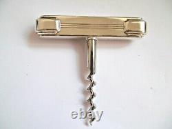 Lovely 925 Silver Handle Tiffany & Co Century Art Deco Style Corkscrew