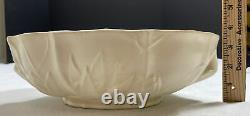 McCoy RARE Center Piece Planter Early Matte White Embossed Flowers Handles