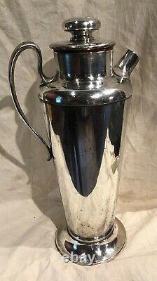 Meriden International Silver Plate No 314 Cocktail Shaker 56 Ounce Art Deco Era