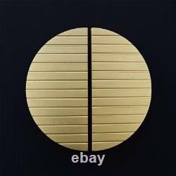 Modern Art Deco Small Striped Brass Half Moon Door Wardrobe Cabinet Handles