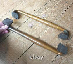 Old Large and Heavy Pair of Solid Brass Door Pull Handles