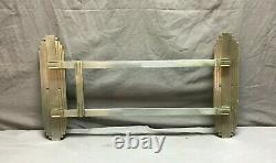 One Antique Art Deco Nickel Brass Door Push Pull Handle Vtg Grab Bar 302-19J