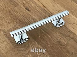 Pair 8 Chrome Art Deco Door Drawer Pull Handles Cupboard Furniture Knobs Grab