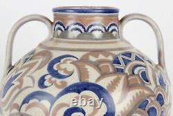 Poole Pottery Large Two Handled Art Deco AX Pattern Vase Shape 901 CSA