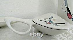 Rare Metlox Poppytrail Califoronia Contempora Handled Vegetable Dish with Lid