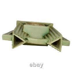 Roseville Pottery Donatello Double Bud Art Deco Handled Vase