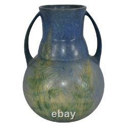 Roseville Pottery Windsor Blue Tall Handled Vase