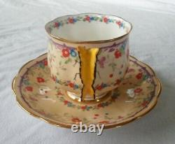 Royal Albert gaiety butterfly handle cup saucer vintage flower wing crown 1930s
