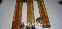 Set Of 3 Art Deco Vintage Glitter Phenolic Bakelite Door Handles