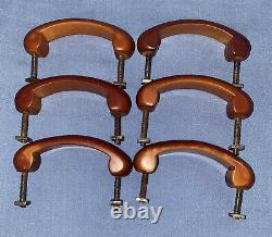 Six Original Art Deco Vintage butterscotch Bakelite Door Handles Circa 1930